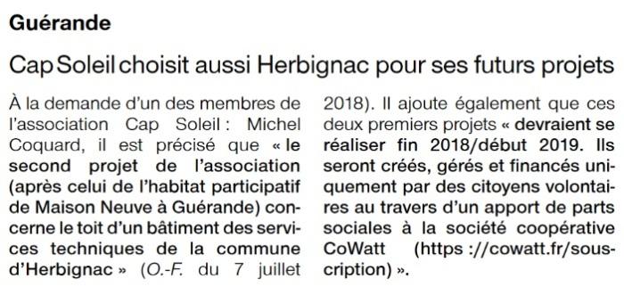 CapSoleil choisit Herbignac pour ses futurs projets
