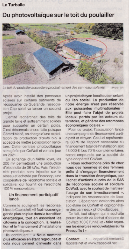 20201107_Ouest_France_Poulailler_Mace_Article